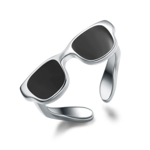 Real-925-Sterling-Silver-Ring-For-Women-Men-Jewelry-Cute-Black-Sunglasses-Enamel-Ring-Silver-925.jpg_640x640