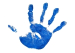 kid-handprint-blue-shutterstock